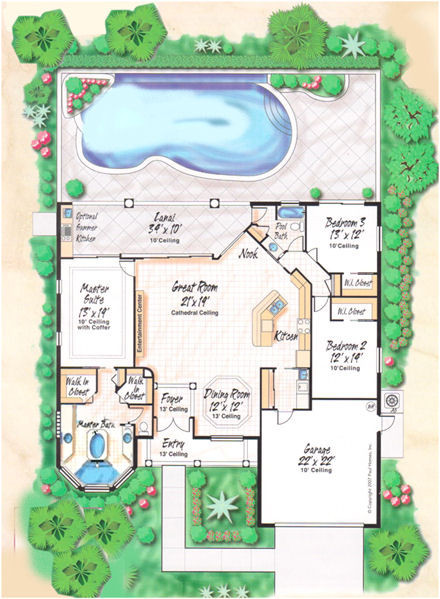 Grundriss villa mit pool  Villa Miriam in Cape Coral / Florida mit Pool und Boot und ...